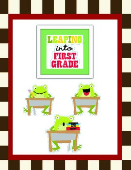 Leaping Frogs: First Grade Bundle-Reading Posters and More