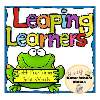 Leaping Learners - Frog Themed Dolch Pre-Primer Sight Word