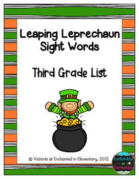 Leaping Leprechaun Sight Words! Third Grade List Pack
