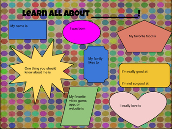 Learn All About Me: Google Drawing
