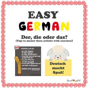 Easy German - Der, Die oder Das - The german articles
