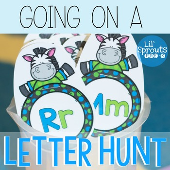 FREE - Learn Letters Activity - Going on a Letter Hunt Pre