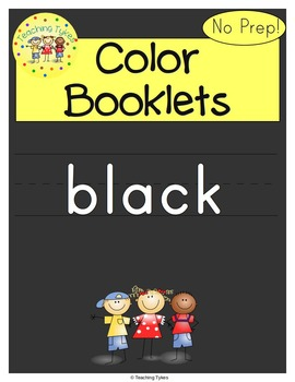 Colors Activities Worksheets Booklet Black