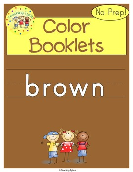 Colors Activities Worksheets Booklet Brown