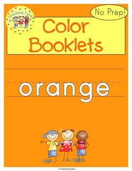 Colors Activities Worksheets Booklet Orange
