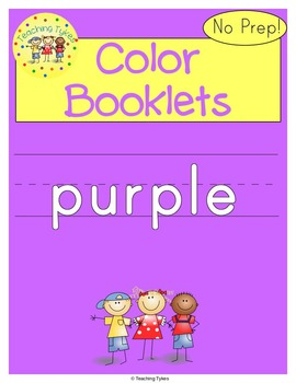 Colors Activities Worksheets Booklet Purple