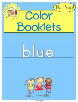 Colors Activities Worksheets Booklet Blue