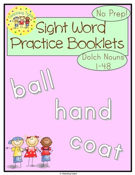 Sight Words Interactive Books Dolch Nouns