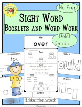 Sight Words Interactive Books and Word Work Dolch First Grade