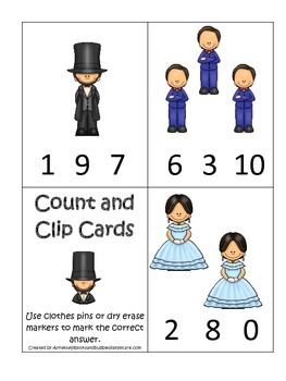Learn about Abraham Lincoln. American history Count and Cl