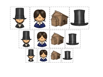 Learn about Abraham Lincoln. American history Size Sorting