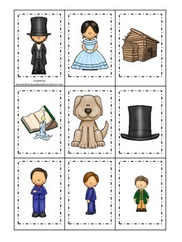 Learn about Abraham Lincoln. American history Memory Match