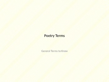 Learn and Practice Poetry Terms