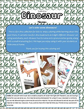 Learn dinosaur names - Stegosaurus