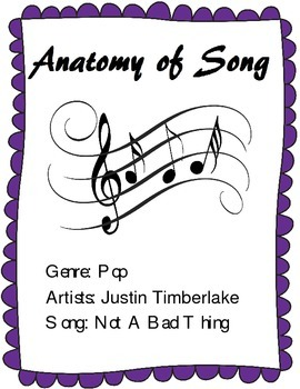 Learn the Parts of a Song - Analysis of Justin Timberlake'