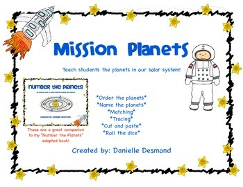Learn the Planets worksheets for Special Education