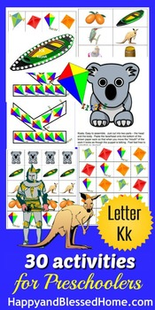 Learn to Read Letter K Activity Pack