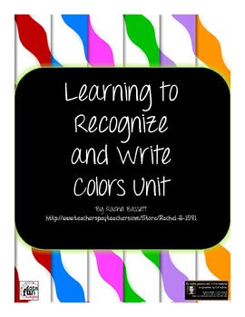 Learn to Recognize and Write Color Words Unit