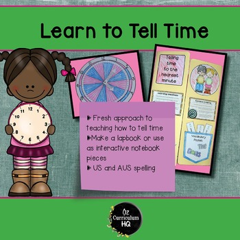 Learn to Tell Time Lap Book or Interactive Notebook #bette