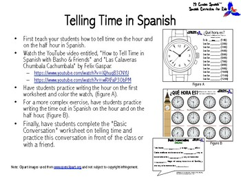 Learn to Tell Time in Spanish!