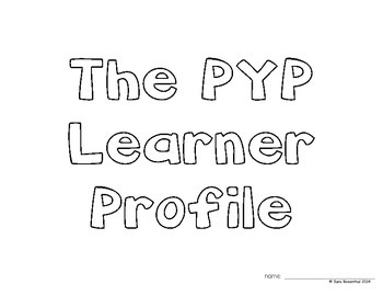 IB Learner Profile Booklet