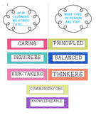 IB: Learner Profile Words Wall Display, Poster, or Bulletin Board
