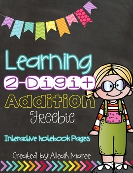 Learning 2-Digit Addition Freebie!  Interactive Notebook P