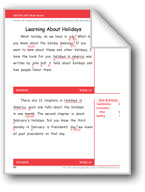 Learning About Holidays (Gr. 2/Week 14)
