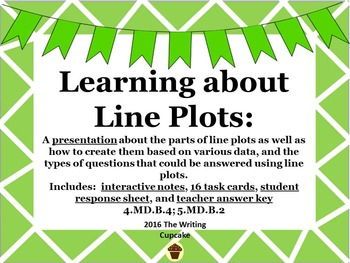 Learning About Line Plots (lessons, interactive notes, tas