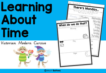 Learning About Time - Victorian Modern Cursive - duration,