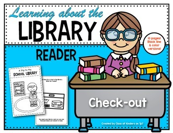 Learning About the School Library {Reader} for Kindergarte