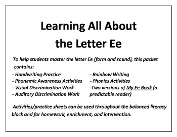 Learning All About the Letter E!