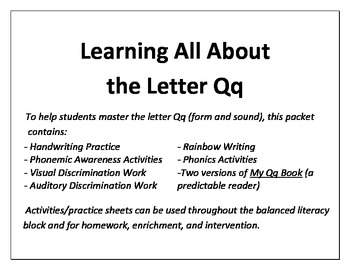 Learning All About the Letter Q!