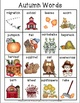 Learning Autumn Words K-4