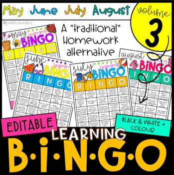 Learning BINGO Bundle: April, May, June