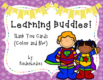 Learning Buddies: Thank You Cards