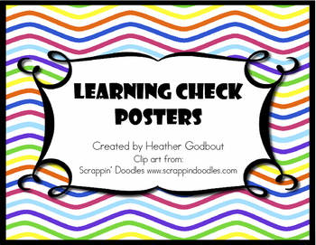 Learning Check Posters