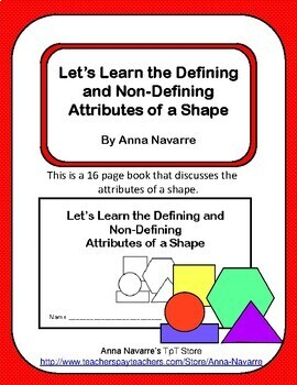 Learning Defining and Non-Defining Attributes of a Shape Book