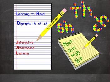 Digraphs Smartboard Smart Notebook Interactive Smart board