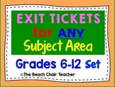 Exit Ticket for ANY Subject Area - Great for Observations