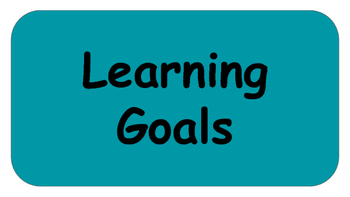 Learning Goals / Objectives Headers