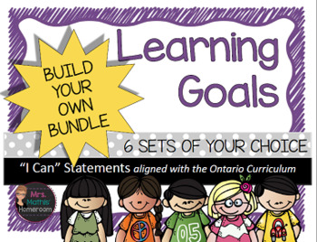 Learning Goals (Ontario) Build Your Own Bundle