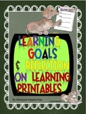 Learning Goals/Reflecting on Learning Printables