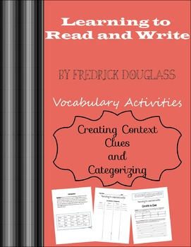 """Learning How To Read and Write"" By Fredrick Douglass Vocabulary"