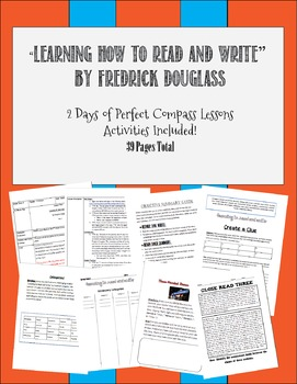 """""""Learning How to Read and Write"""" by Fredrick Douglass  2 Day Plan"""