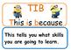 #ausbts17 Learning Intention signs WALT/WILF/TIB *Minion theme*