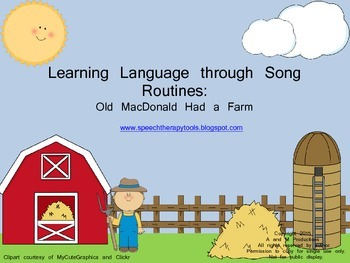 Learning Language through Song Routines: Old MacDonald