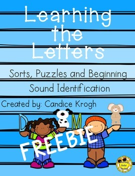 Learning Letters; ABC Sorts, Sounds, & Puzzles; FREEBIE