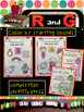 Learning Letters R and G! Mini-books, picture sorts, color