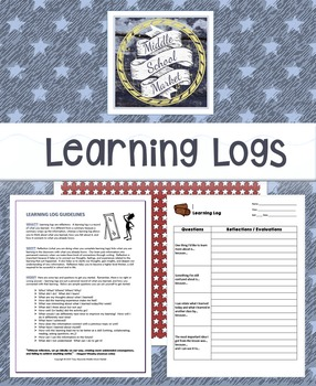 Learning Log Guidelines / 3 Different Learning Logs